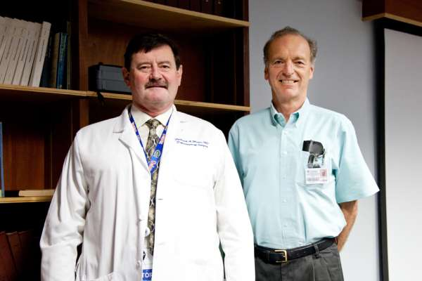 Dr. Frederick Moore and Bruce McKinley, Ph.D., two of the researchers who worked on the team that put forth the concept of PICS.