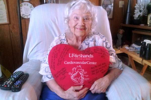 Rosalie Youngerman was the 100th person to undergo a transcatheter aortic valve replacement at UF Health Shands Hospital.