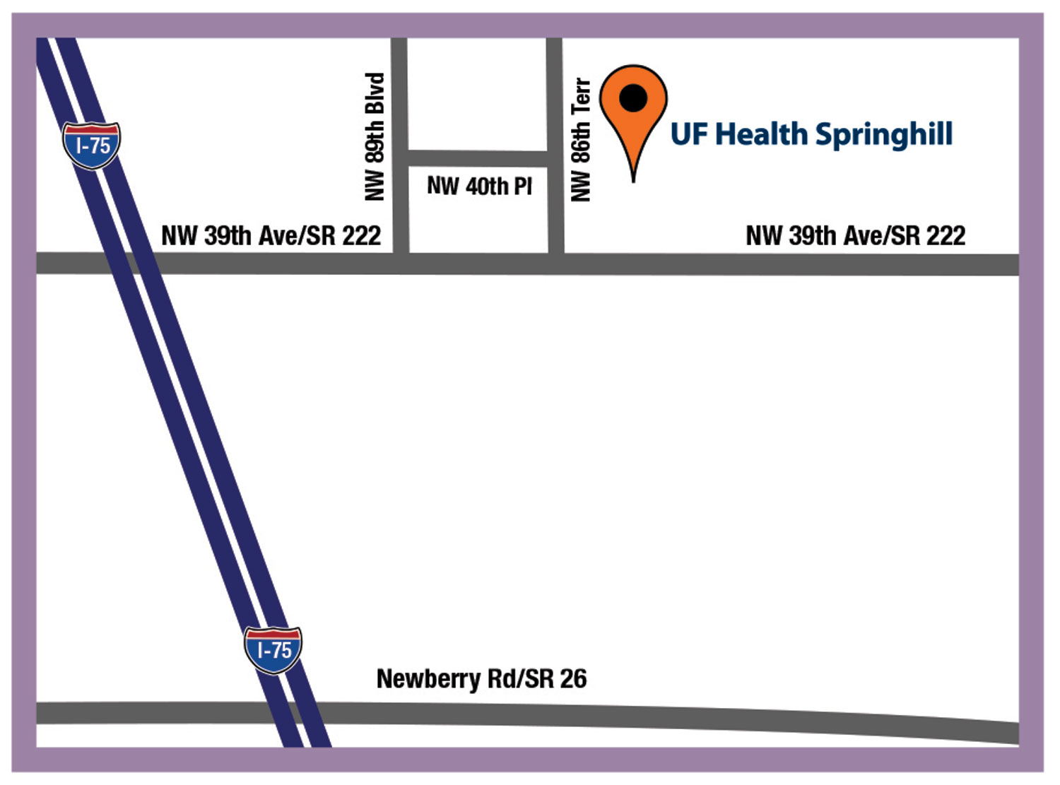 UF Health Springhill map