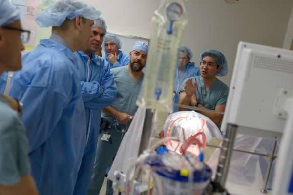 Robin Thomas was the first patient at UF Health to receive a pair of lungs placed on the XVIVO system.