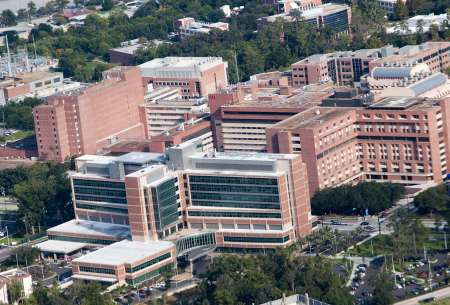 Aerials of the University of Florida Health Science Center shot from the ShandsCair helicopter.