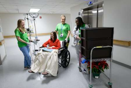 UF Health faculty and staff move patients to our new hospitals.