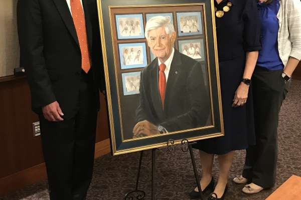 Timothy C. Flynn, MD, honored by the Woodward Society with a portrait.