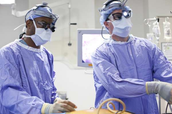 Doctors performing an operation