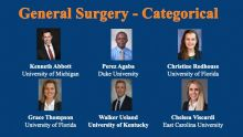 Six interns, general surgery