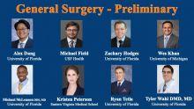 Eight interns, general surgery, prelim