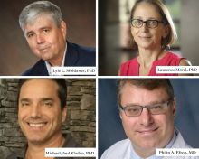 Four headshots of key researchers on new RM1 grant